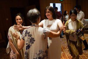 Viviana Durante, Zhao Ruheng et Shelly Power au gala d'ouverture @WangXiaojing